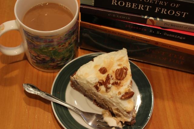 coffee, books and cake